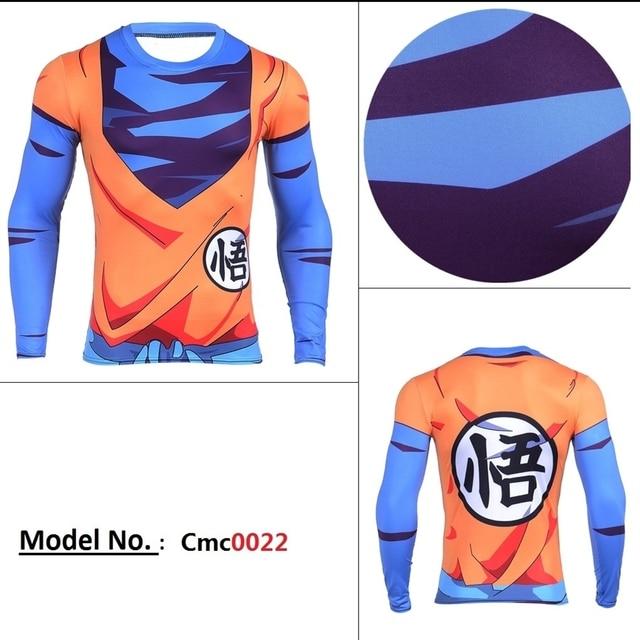 Line Walker Anime Men's Dragon Ball Z T Shirt Men 3d Vegeta Goku Super Saiyan Design T-Shirt Compression shirt  crossfit