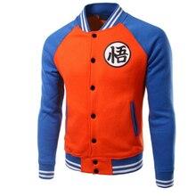 Novo Anime Japonês Dragon Ball Goku Queda Jaqueta Do Time Do Colégio Moletom Com Capuz casuais Jaqueta Casaco Marca Jaqueta De Beisebol