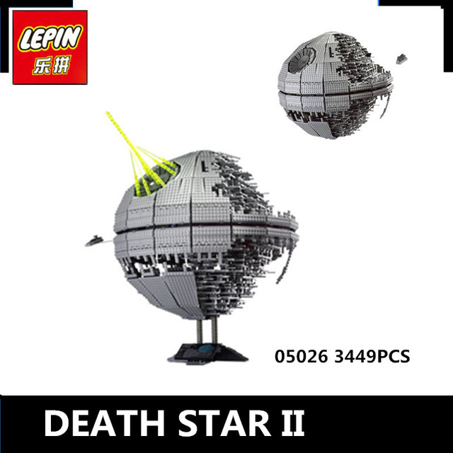 IN STOCK LEPIN 05026 3449Pcs  Death Star II Model Building Kits W Blocks Bricks Compatible Children Toys Gift With 10143