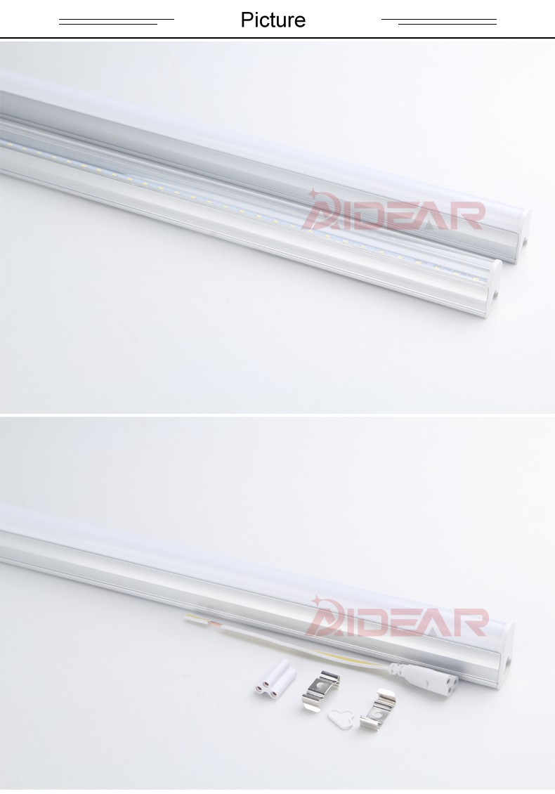 Promotion t5 light fixtures 600mm AC85-265V LED Fluorescent Tube LED T5 Tube Lamps 10W Cold White Light