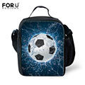 FORUDESIGNS Boys Lunch Bag Cool Ball Printing Shoulder Lunch Box for Kids Insulated Men Picnic Food Bag Bolsa Termica Lancheira