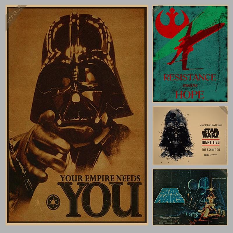 Vintage Star Wars Αφίσα Ρετρό τέχνης Τοίχο - Διακόσμηση σπιτιού - Φωτογραφία 1