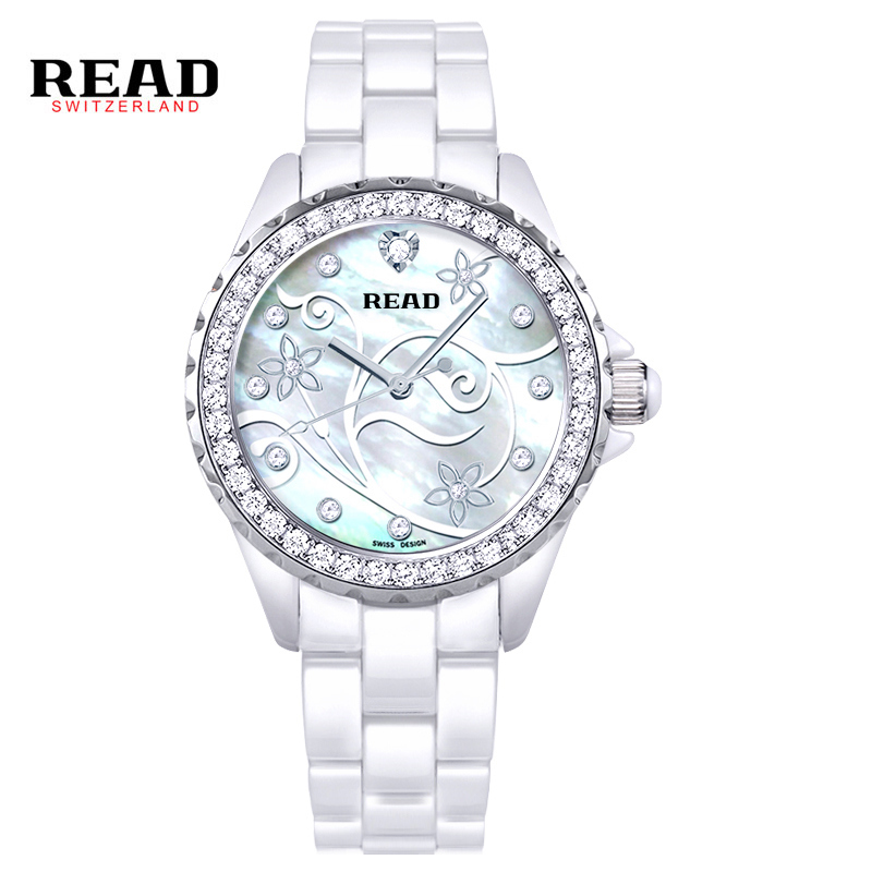ФОТО Watch Women Read Brand Luxury Fashion Casual Quartz Ceramic Watches Lady Relojes Mujer Women Wristwatches Girl Dress Clock PR34