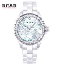 Reloj de Las Mujeres Leen Marca de Moda de Lujo Casual Relojes Mujer Relojes de Las Mujeres Vestido de La Muchacha de Cuarzo Relojes de Cerámica de Señora Reloj PR34