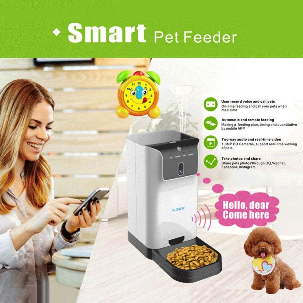 2018 новые 6l Smart автоматическое кошка/Собака видео в реальном времени и удаленного Кормление функции подачи Wi Fi Умные питомцы фидер поставляе