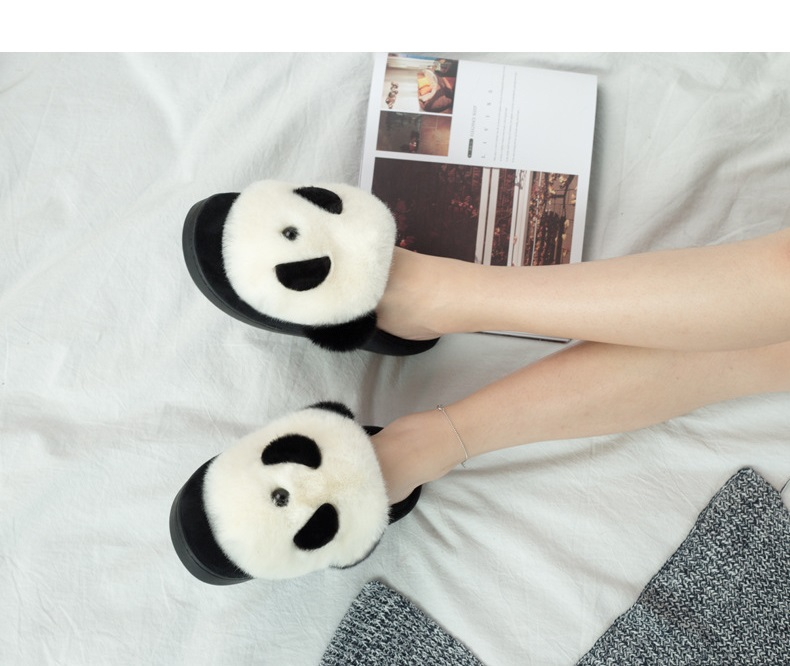 XiaGuoCai Home Slippers Cotton Fabric winter slippers Couples Wooden Floor Winter Warm Plush Shoes For Unisex Pantoffels (4)