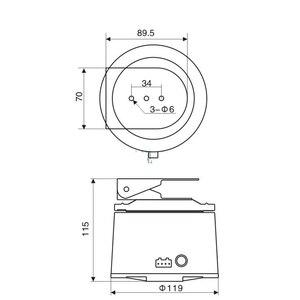 Image 4 - GZGMET Pan Surveillence Accessori Cctv 350 Gradi Impermeabile Esterna 485 di Ingresso Ccv Fotocamera Tastiera di Controllo Pan Tilt Motore