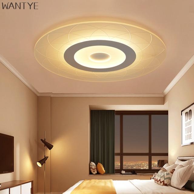 LED Deckenleuchten Lampe Plafond Moderne Deckenleuchten Schlafzimmer  Esszimmer Innenbeleuchtung Lampe Acryl Material