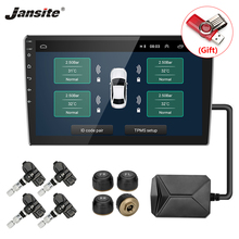 Jansite USB TPMS Car Tire Pressure Alarm Monitor System for Android Navigation player with four external internal sensors