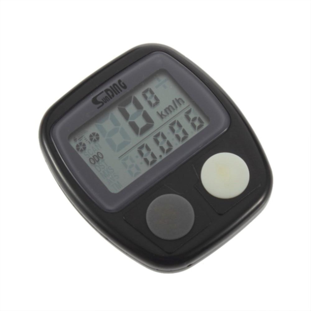 Sunding SD-536 Impermeabile Digital LCD Bike Computer Ciclo Tachimetro bicicletta Contachilometri Velocità media massima 14 Funzione + Batteria