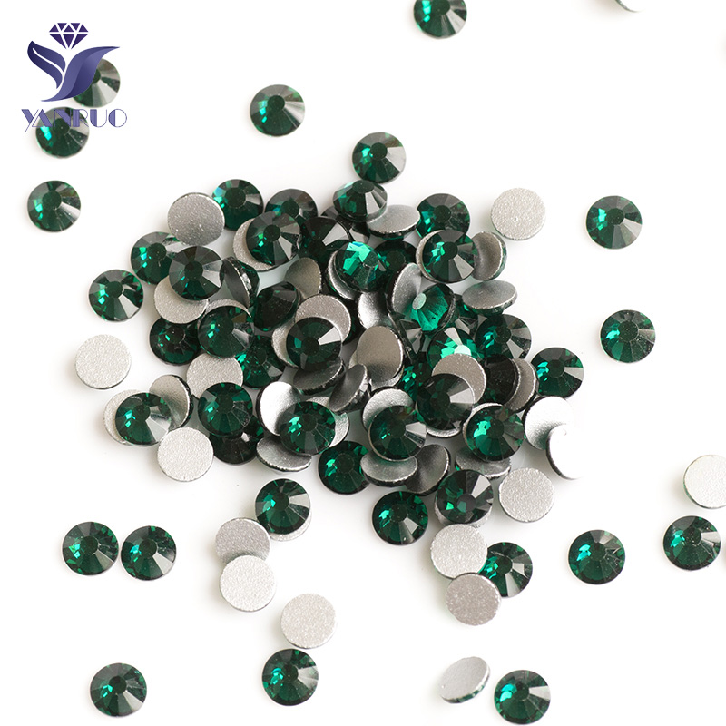 YANRUO #2028NoHF Rhinestone SS20 Emerald 1440Pcs High Quality Non Hotfix Flatback Glass Strass Crystal For Nails Art