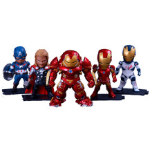 Hot Marvel 5pcs/set 8-10cm Super Hero The Avengers action figure Toys Iron Man Thor Captain America Hulk thor toy