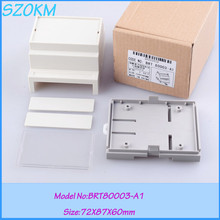8 pcs/lot free shipping enclosure din rail plastic electrical din rail box 72 x87x60 mm diy control case