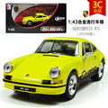 KAIDIWEI 1/43 Scale Germany 1973 P0r-sche 911 Diecast Metal Car Model Toy New In Box For Gift/Kids/Collection