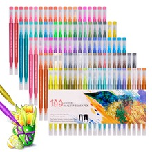 Watercolor Markers Washable Pen Sketching Painting Dual Brush Pen Set Soft Permanent Markers 48 60 72 100 Colors For Art Drawing sta 12 24 36 48 colors dual brush pen tips watercolor markers pen artist soft brush for graphic drawing manga coloring art