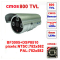Free shipping sale mini bullet camera tvl three lamps array led infrared waterproof ir 20m z571c