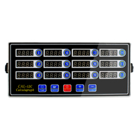 hamburger kitchen twelve calculagraph 12 channels timer reminder stopwatch commercial use kitchen multi channels timer