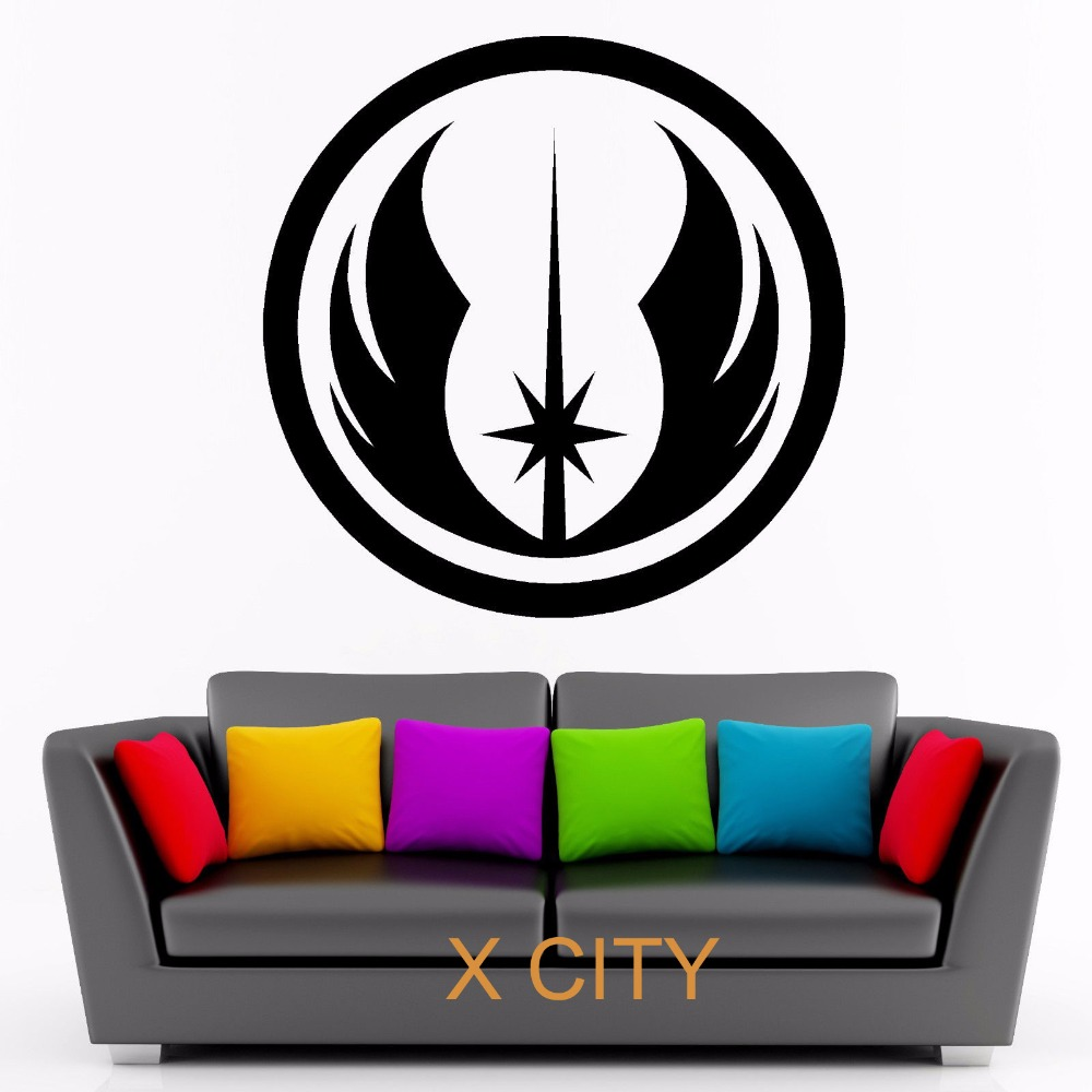 Jedi order symbol star wars wall art sticker vinyl self adhesive jedi order symbol star wars wall art sticker vinyl self adhesive transfer room door window decal stencil removable in wall stickers from home garden on biocorpaavc