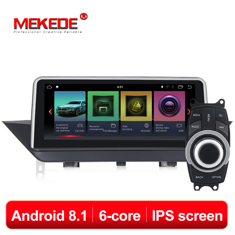 IPS ID7 PX6 6 núcleos Android 8.1 sistema Do Carro DVD Player multimídia para BMW X1 E84 2009-2013 com rádio wifi BT GPS Navigation