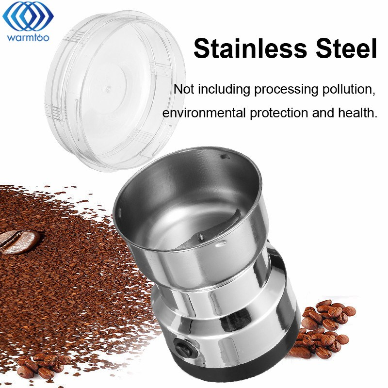 Electric Stainless Steel Coffee Bean Grinder Home Grinding Milling Machine 220V EU Plug Coffee Accessories Kitchenware cukyi 110v 220v household electric coffee roasters 40w power stainless steel coffee bean roasting machine