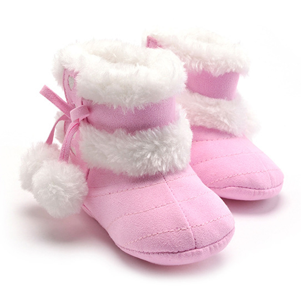 Baby Girls Snow Boots Personality Lobbing Ball Shoes Girls Winter Warm Boots