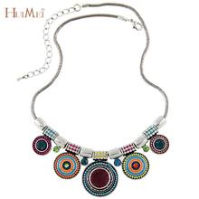 Fashion Colorful Charms Resin Crystal Beads Pendant Necklace Chunky Chain Statement Necklaces for Women Vintage Noble Jewelry