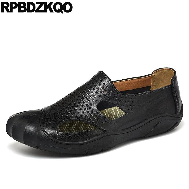 f37571e120 Cheap Deporte al aire libre de cuero 2019 Sandalias Zapatos de verano  Zapatos de dedo del