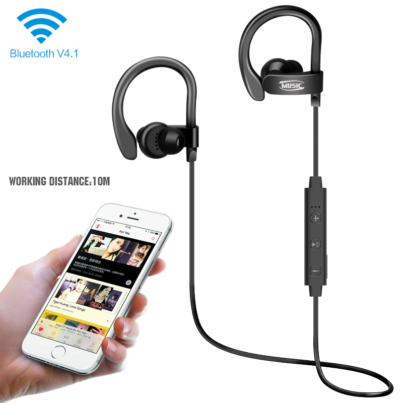 Sport Waterproof Bluetooth Headphones In-Ear Stereo Music Earphones Wireless Headsets 56S with Mic for iPhone Samsung bluetooth wireless earphones in ear sport running headsets waterproof anti sweat mini earphone hifi stereo mic for phone music
