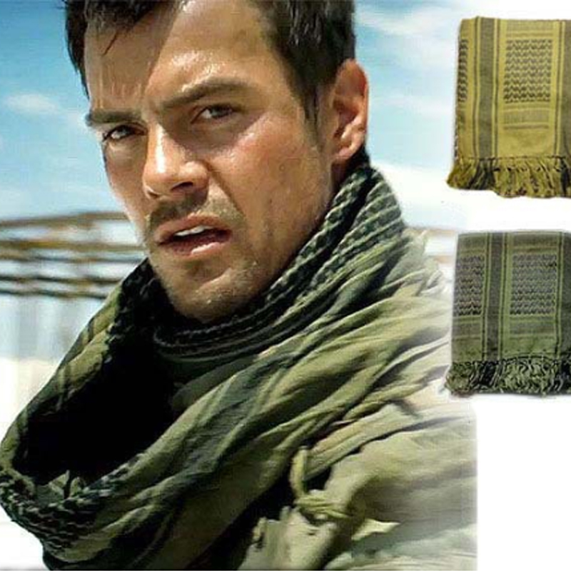 Outdoor Sport Hiking Head Scarves Military Arab Tactical Desert Scarf Army Shemagh With Tassel For Men Women Climbing Neck Wrap