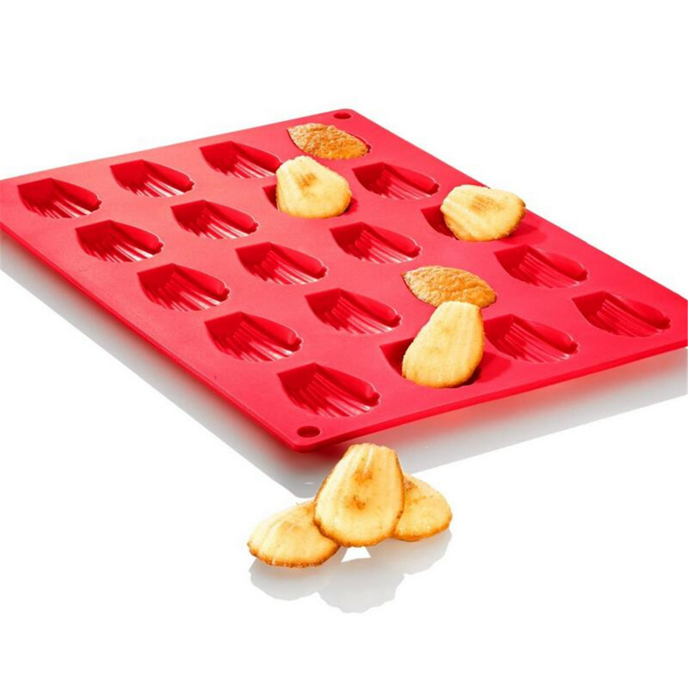 Hot Sale Silicone Madeleine Cookie Mold 20 Holes Silicone Shell Biscuits Cake Bakeware Moulds Mini Muffin Cake Decoration Tool