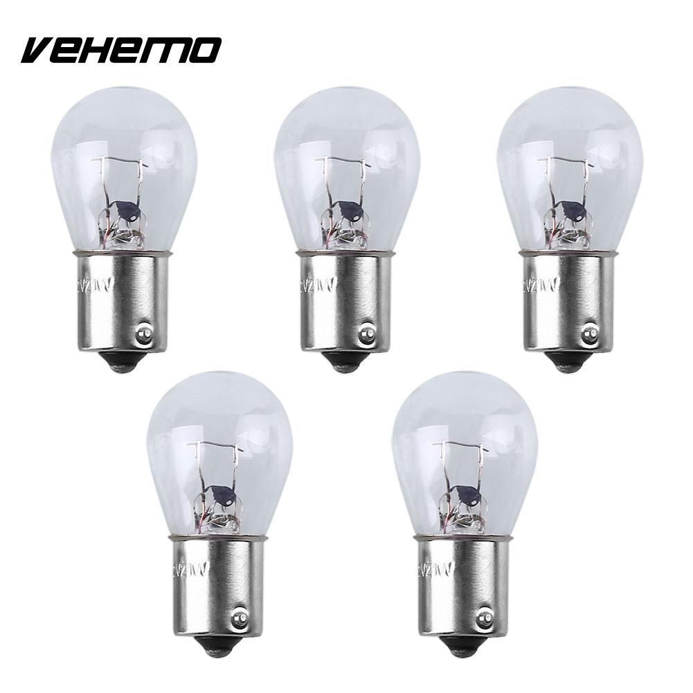 5pcs 1156 12V White Mini Turn Break Reverse Signal Wedge Bulb Light Lamp For Car