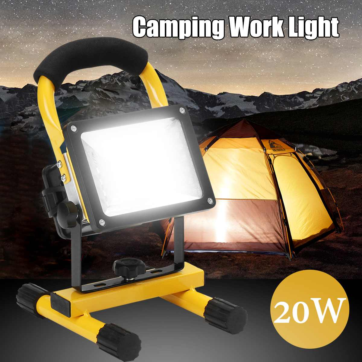 Rechargeable 24LED LED Searching Light Portable 2000LM Spotlight Flood Spot Work Light For Outdoor Camping Lamp With Charger