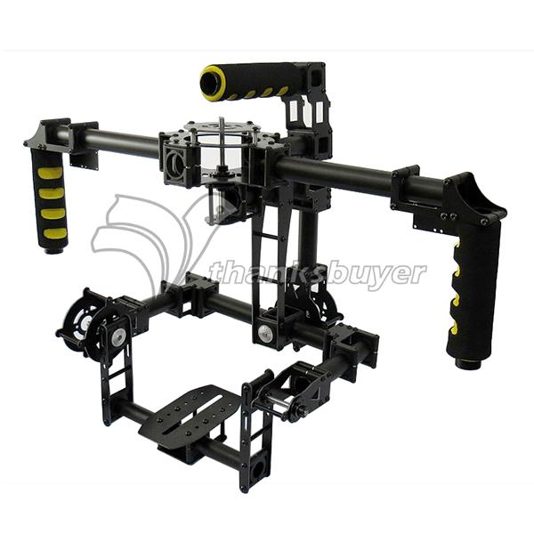 FPV 3 Axis DSLR Brushless Gimbal Glass Fiber Stabilized Camera Mount PTZ for 5D2 5D3 D800 Aerial Photography