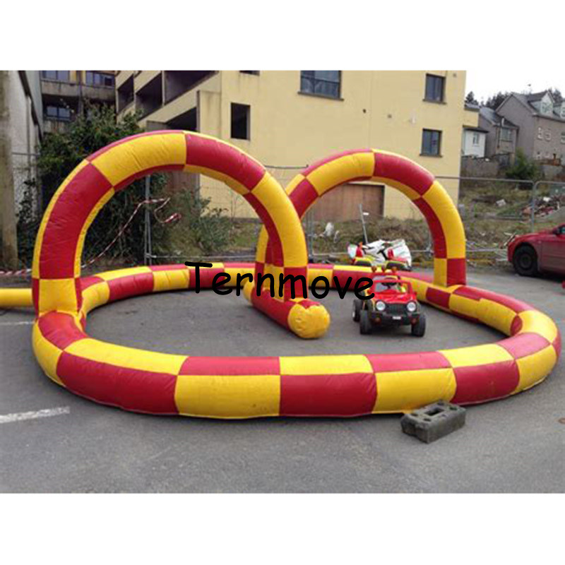 цена inflatable go kart race track karting track racing track race track for team sport game Inflatable Race Car Circuit