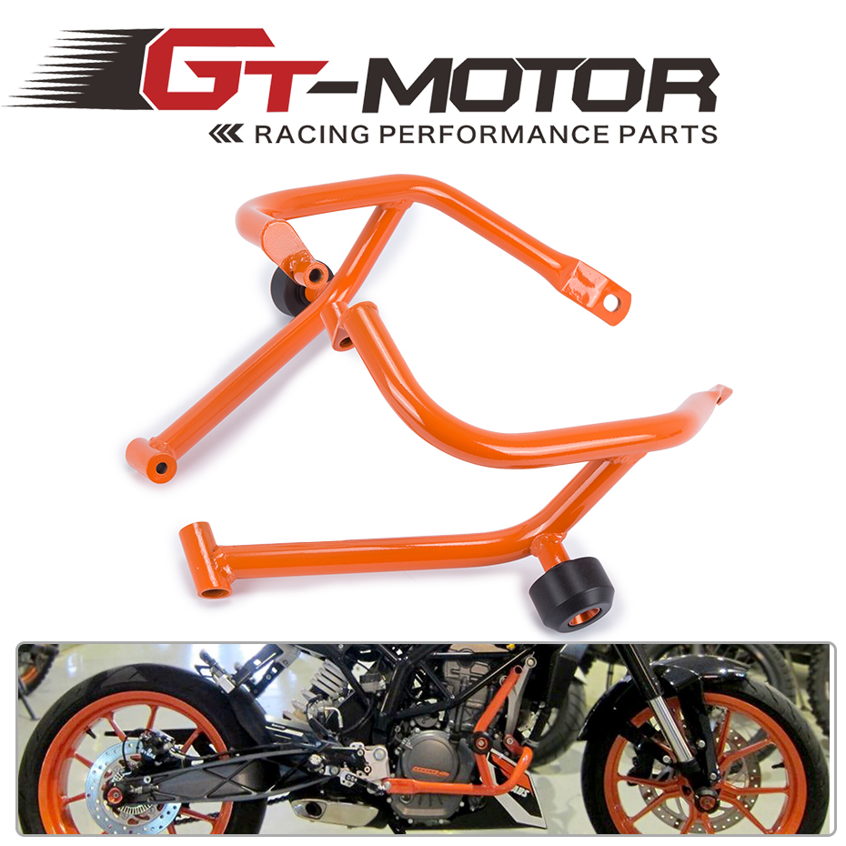 GT Motor- Motorcycle Refit Tank Protection Bar Protection Guard Crash Bars Frame For KTM DUKE 200 DUKE200 for ktm 390 duke motorcycle leather pillon passenger rear seat black color