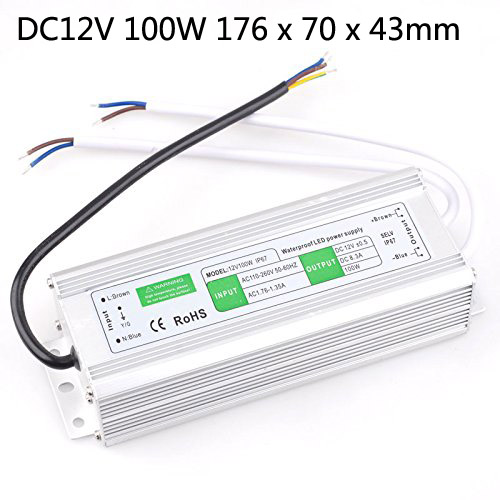 <font><b>DC</b></font> <font><b>12v</b></font> 10w 15W 20W 30W 36W <font><b>50W</b></font> 60W 80W 100W Transformer Power Supply Driver Led Light Waterproof Ip67 image