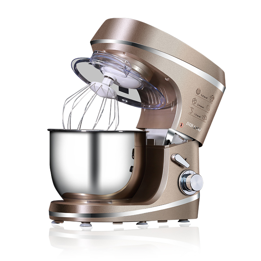 1PC Multifunctional 5.5L Stainless Steel Electric Food Mixers Dough Kneading machine egg stirring machine 220V/1000W fast food leisure fast food equipment stainless steel gas fryer 3l spanish churro maker machine