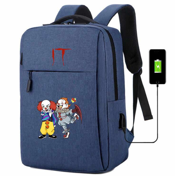 Stephen King's It usb зарядка брезентовые школьные рюкзаки легкий рюкзак Зарядка телефона сумка на плечо ноутбук дорожная сумка рюкзак