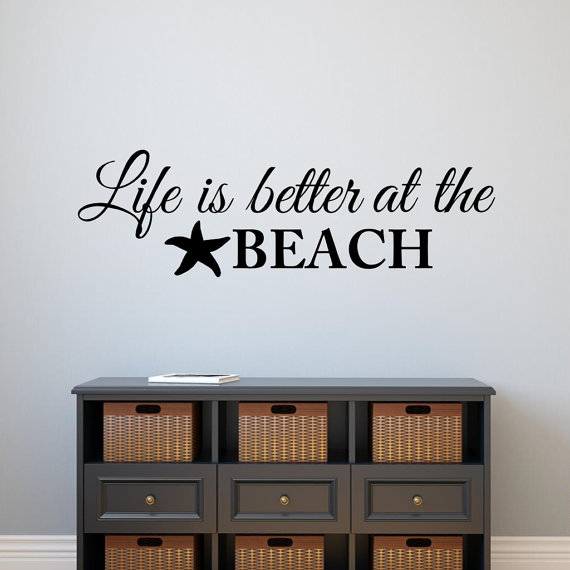 Compare Prices On Beach Wall Quotes Online ShoppingBuy Low Price - Wall decals beach quotes