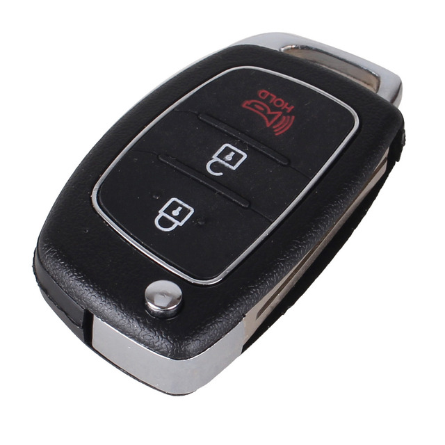 KEYYOU Remote Key Case Fob 3 Button Flip Folding Car Key Shell For Mistra Hyundai HB20 SANTA FE IX35 IX45 Accent I40 Solaris
