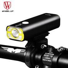 Колесо вверх USB Перезаряжаемый велосипедный светильник головной светильник Аксессуары для велосипеда передний руль Велоспорт Светодиодный светильник Батарея Вспышка светильник фонарь