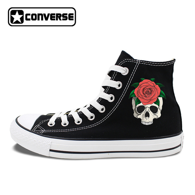 womens Skateboarding Shoes Canvas art skull skateboarding cool Sport Sneaker
