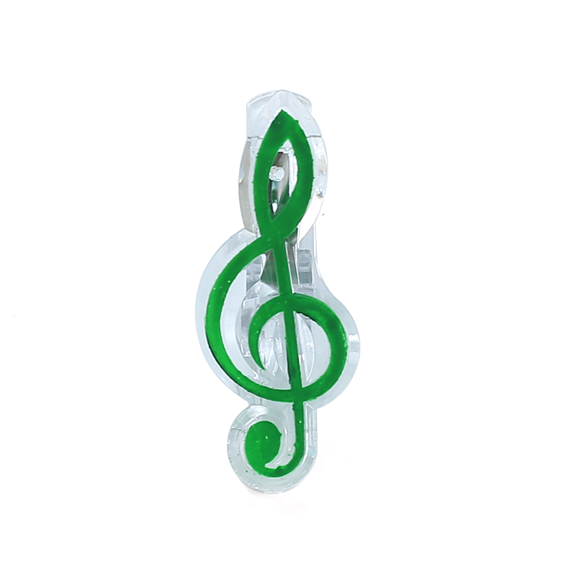 Купить с кэшбэком Creative Musical Note Clips Book Page Clip Kawaii Stationery Folder Clip Photos Tickets Notes Letter Paper Music Score Clips