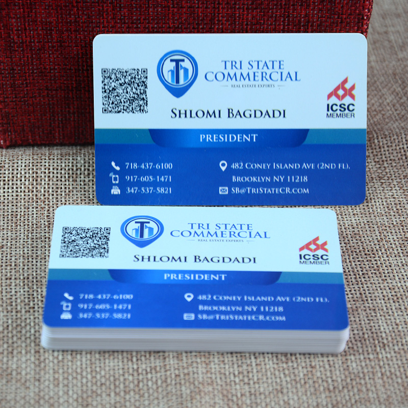Customized design printing QR code plastic pvc business cards-in ...