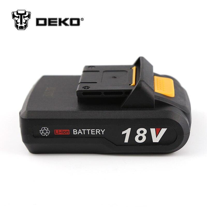 DEKO New 18V Cordless Drill DC Mobile Power Supply Lithium Battery Applicable Drill Model LCG18VDU wansenda usb 3 0 android otg usb flash drive 64gb pen drive 8gb 16gb 32gb usb 3 0 fast speed pendrive usb stick retail package