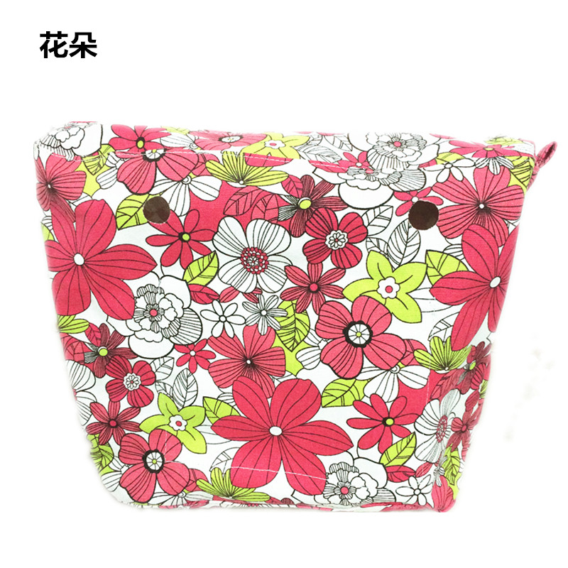 Waterproof lining Insert Zipper Pocket For Classic Obag Canvas Inner Pocket for O Bag women handbag accessories new colorful cartoon floral insert lining for o chic ochic canvas waterproof inner pocket for obag women handbag