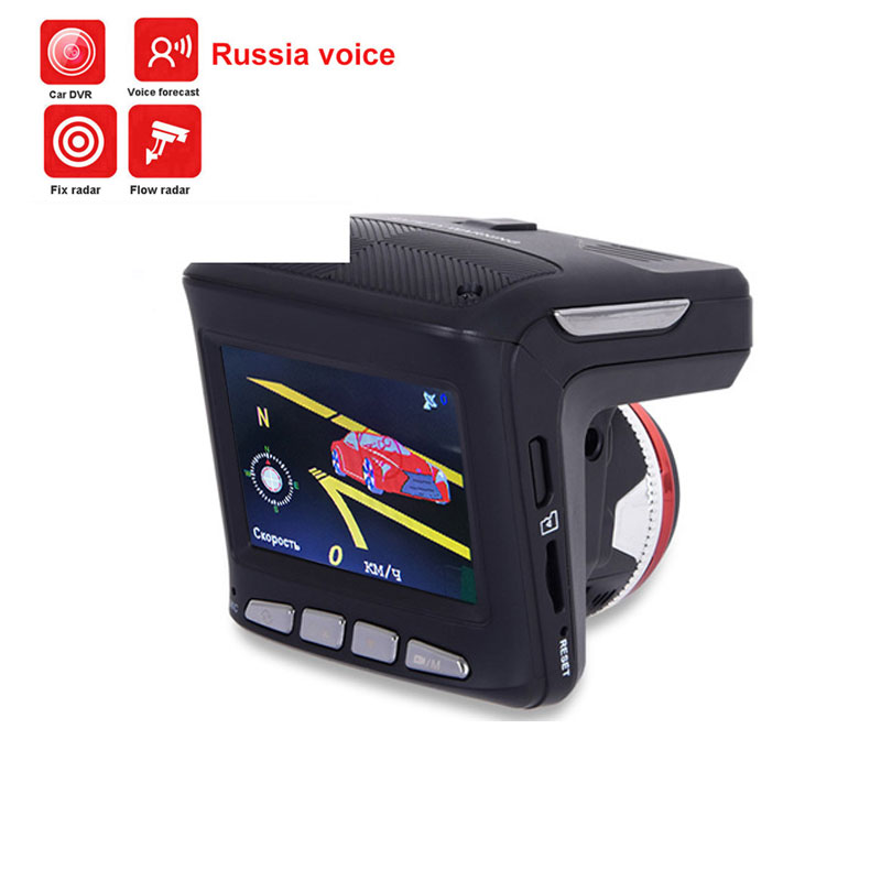 цена на 3 in 1 Car Radar Detectors DVR Recorder Russian Dedicated Voice Broadcast GPS Camera Dash Cam Fixed / Flow Velocity Measurement