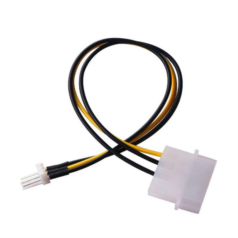 Computer Cable  Brand New CPU Chasis Case Fan Power Connector Cable Adapter For 4-Pin Molex IDE To 3-Pin  X30514