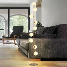 Пост современный креативный Золотой Покрытие металлом стеклянный абажур торшер 9 шт. лампа для гостиной спальни украшение светодиодный светильник