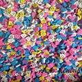 50 Unidad/bolsa Random 6 color ToothShape Sonrisa Borrador Papelería Regalo de La Promoción Dental